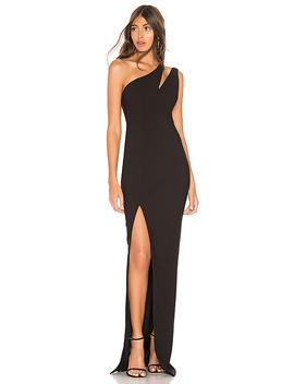 Roxy Gown In Black by Likely