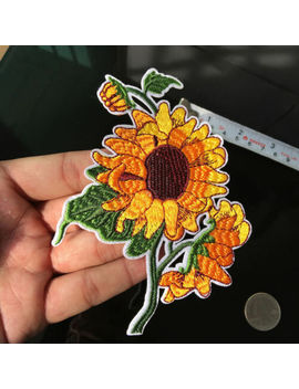 Fashion Sunflower Patch Embroidery Sew Iron On Patch Badges Applique Sewing Diy by Unbranded