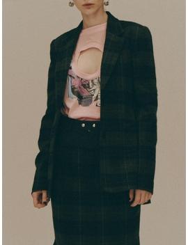 Single Breasted Plaid Blazer by Fleamadonna