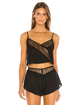 Bonnie Cami In Sheer Black by Kat The Label