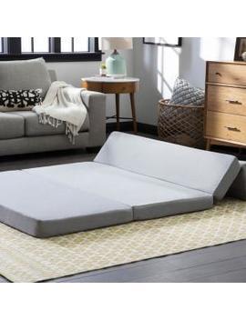 4 In. Full Gel Folding Sofa by Lucid