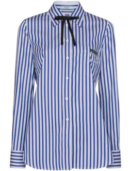 Striped Poplin Shirt by Prada