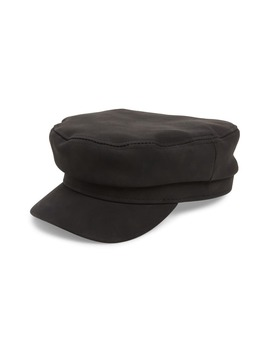Cabbie Faux Leather Newsboy Cap by Bp.