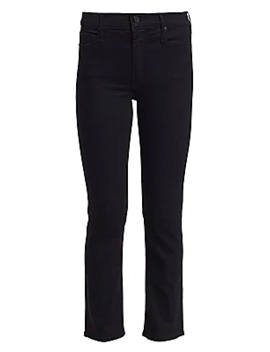 Dazzler Mid Rise Straight Cropped Jeans by Mother