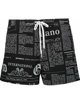 John Galliano Men's Lettering Print Swim Shorts by Ebay Seller