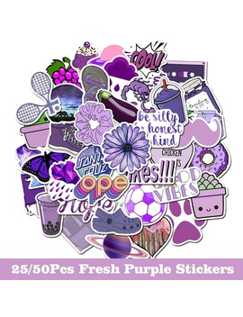 25/50 Pcs Purple/Red/Yellow/Blue Fresh Stickers Cartoon Girl Stickers For Luggage Suitcase Skateboard Fridge Waterproof Stickers by Wish