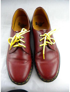 Dr. Martens The Original Cherry Red Smooth Leather Shoes Oxfords Mens Size 10 by Ebay Seller