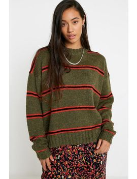 Uo Easy Striped Wool Sweater by Urban Outfitters