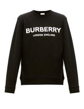Lanslow Logo Print Cotton Sweatshirt by Burberry