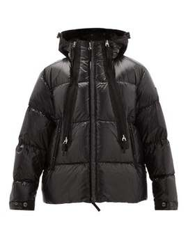Quilted Down Shell Hooded Jacket by Burberry