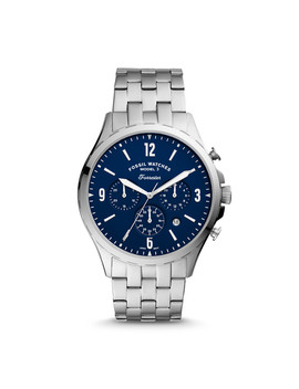Forrester Chronograph Stainless Steel Watch by Fossil