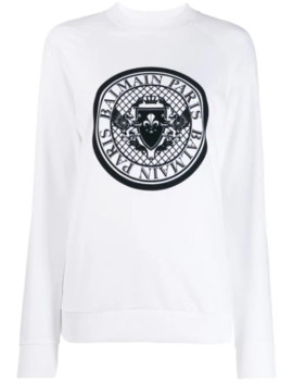 Medallion Logo Sweatshirt by Balmain