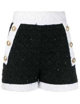 Button Detailed Shorts by Balmain