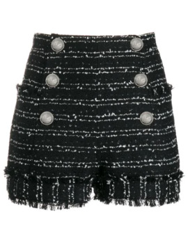 Tweed Double Breasted Shorts by Balmain