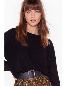 Never Crew How Much Knitted Sweater by Nasty Gal