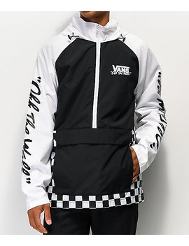 Vans Bmx Off The Wall Black &Amp; White Anorak Jacket by Vans