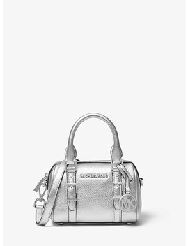 Bedford Legacy Extra Small Metallic Leather Duffel Crossbody Bag by Michael Michael Kors