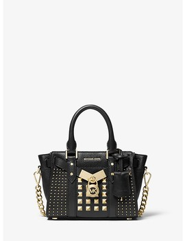 Nouveau Hamilton Extra Small Studded Pebbled Leather Crossbody Bag by Michael Michael Kors