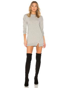 Tarina Zip Sweatshirt Dress In Heather Grey by Superdown