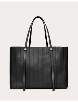 Plitote Shopper In Pleated Nappa Leather by Valentino Garavani