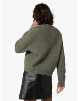 Knitted Wool Cardigan by Ganni