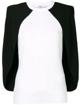 Two Tone Cape Blouse by Givenchy