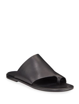 Vince Edris Flat Leather Slide Sandals by Vince