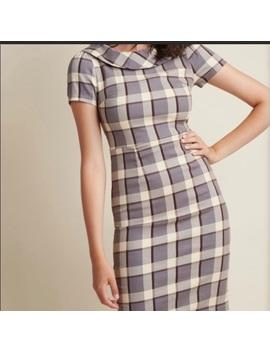 Liza Luxe Plaid Collard Dress by Modcloth