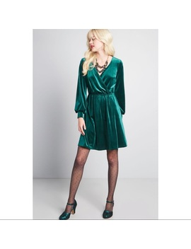 Mod Cloth Luxe Structure Velvet Dress by Modcloth