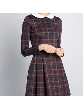 Nwt Smak Parlour Purple Plaid Dress With CollarNwt by Modcloth