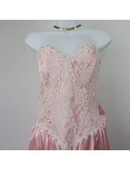 Gunne Sax Vintage Lace Large Bow Gown Size 7 by Gunne Sax