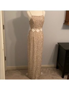 Fab Sequin Peek A Boo Gown! Nwot! by Scala
