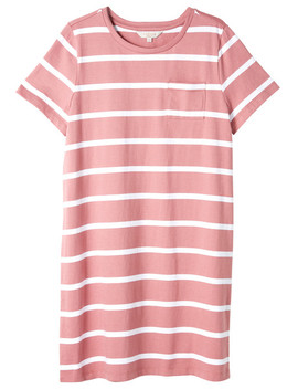 Switch Stripe T Shirt Dress, Pink & White by Farmers