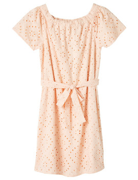 Switch Broderie Anglaise Dress, Peach by Farmers