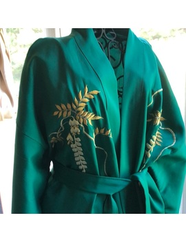 Japanese Vintage Robe 👘 Embroidery Plant Life 🌱 by Poshmark