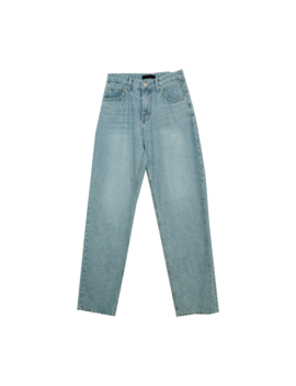 Whiskered Hip Loose Straight Cut Jeans The Delivery Starts From 20th Dec. Along With Your Purchase Order!! by Stylenanda