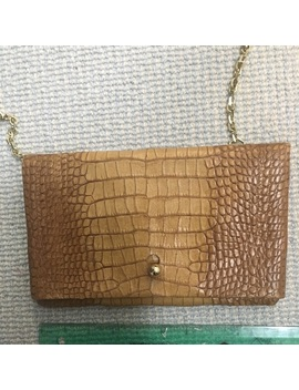 Croco Embossed Leather Crossbody by Etienne Aigner