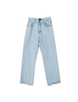 Asymmetric Hem Straight Jeans by Stylenanda