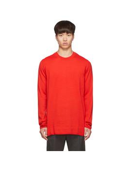 Red Wool Gauge 14 Sweater by Comme Des GarÇons Shirt