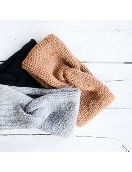 Hand Knit Turban, Chunky Knit Turban, Wool Headwrap, Winter Headband, Warm Womens Turband, Custom Color Turban by Etsy