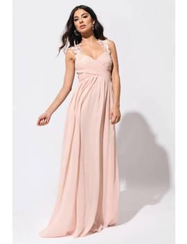 Princess Diaries Blush Maxi Dress by Tobi