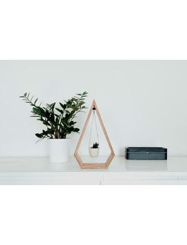 40% Off Holiday Sale! Original Trending Hanging Diamond Planter Wood For Succulents And Air Plants, Diamond Shelf, Wood Shelf by Etsy