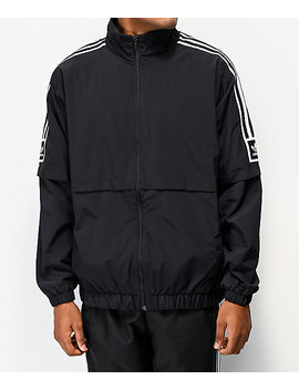 Adidas Standard Black & White Windbreaker Jacket by Adidas