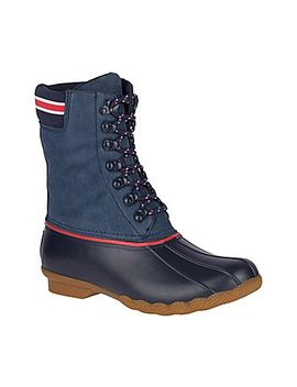 Women's Goop X Sperry Saltwater Tall Lace Up Leather Duck Boot by Sperry