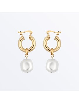Pearl Hoop Earrings     Sara              Regular Price        $75 by Ana Luisa