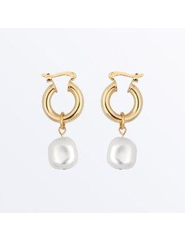 Pearl Hoop Earrings    Sara              Regular Price        $75 by Ana Luisa