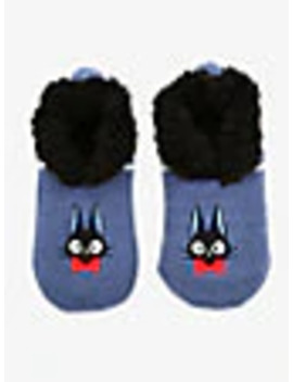 Studio Ghibli Kiki's Delivery Service Jiji Slipper Socks   Box Lunch Exclusive by Box Lunch