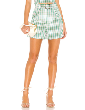 Gaia Short In Green Plaid by The East Order