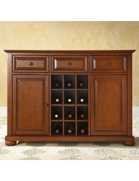 Crosley Furniture Alexandra Buffet Server And Sideboard Cabinet With Wine Storage by Crosley