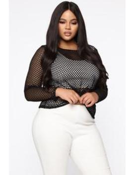 Lust Over You Top   Black by Fashion Nova